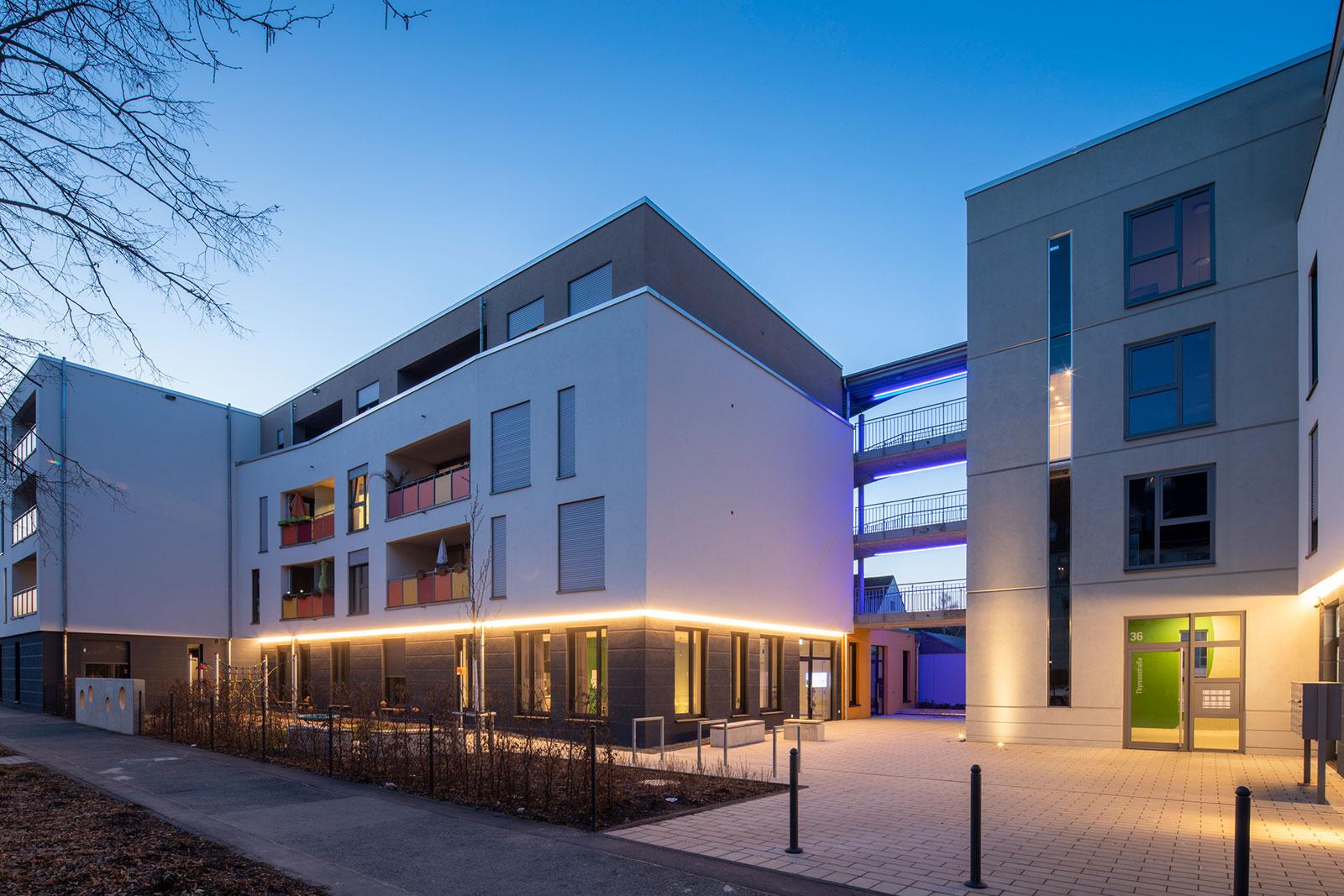Wohnprojekt Wogebe Thyrsusstraße Außenfassade